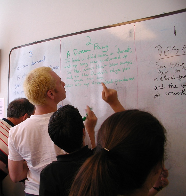 Tefl studeets white board